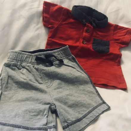 0-3 Month Mixed Shorts and Polo Set